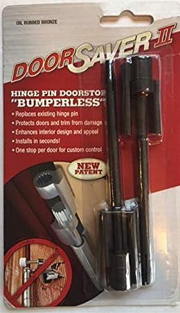 Door Saver 2 II Residential Hinge Pin Door Stop Oil Rubbed Bronze Item 01276