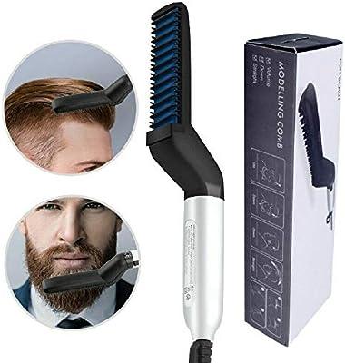 Peine de pelo multifuncional Cepillo Alisador de barba Alisado de ...