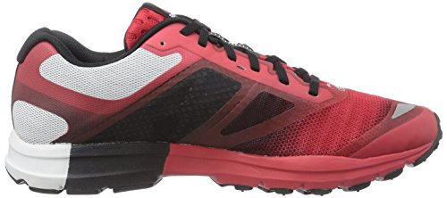 Reebok One Cushion 2.0 City Lights - Zapatillas de running de material sintético para hombre Multicolor (Red Rush/Black/White)