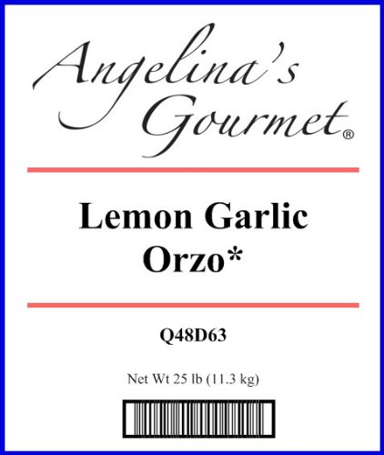 Orzo, Lemon Garlic * - 25 Lb Bag Each by Woodland Ingredients