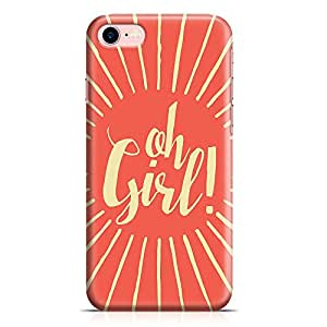 Loud Universe iPhone 7 Case Oh Girl Low Profile Light Weight Wrap Around iPhone 7 Cover