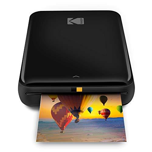 Kodak Step Wireless Photo Printer 2×3 Sticky-Back ZINK Paper for Bluetooth or NFC Devices (Black) Sticker Edition