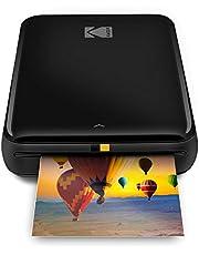 $69 » Zink Kodak Step Printer   ZINK Zero Ink Technology Wireless Mobile Photo Printer for Any Bluetooth or NFC Smart Device (Black) Sticker Edition, 2x3 (RODMP20KIT9B)