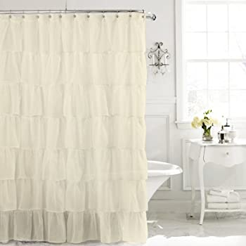 Lorraine Home Fashions 08383 SC 00051 Gypsy Shower Curtain Cream 70 X 72