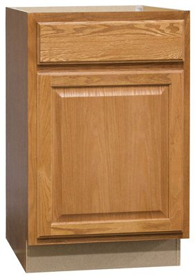 Rsi Home Products Sales Cbkb21-Mo 21″ Base Cabinet In Oak Cabinet, Assembled, Unfinished & Finished