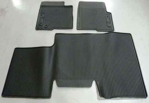 Oem Factory Stock Genuine 2011 2012 2013 2014 Ford F-150 F150 SuperCrew With Subwoofer Black Ebony Rubber All Weather Floor Mats Set 3-pc Front & Rear