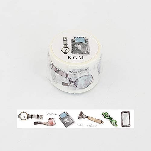 Masking Tape 30mm for Scrapbooking Washi Tape Gentleman BGM