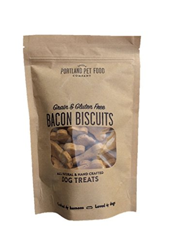 Portland Pet Food Company All Natural, Human Grade, USA Made Grain & Gluten Free Bacon Biscuits, 3 - Or Portland Usa