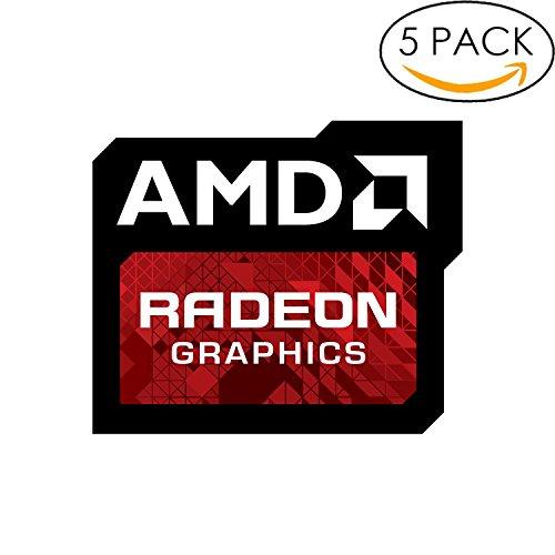 Price comparison product image 5x Original AMD Radeon Graphics Sticker 16mm x 20mm with Authentic Hologram