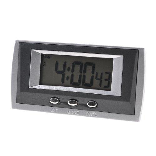 Black Gray Three Keypad 58 x 24mm Display Battery Car Digital Clock