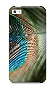 Case Cover Nice Peacock Feather / Fashionable Case For Iphone 5c
