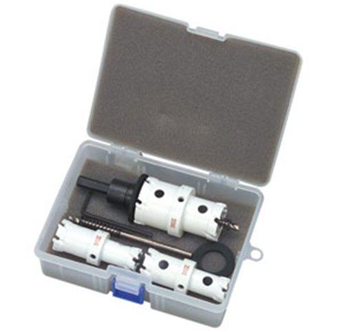デンサン クイックダブル超硬ホールソー セット HW-2142S B006V7NX4Q