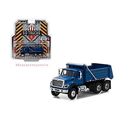 Greenlight New DIECAST Toys CAR 1:64 SD Trucks Series 3 - 2020 International WORKSTAR Dump Truck Blue 45030-A: Toys & Games