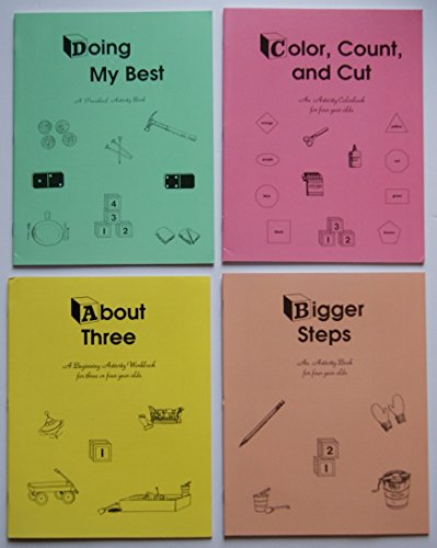 Rod and Staff Homeschool Preschool Activity Workbooks- Set of 4