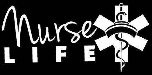 [Nurse Life Vinyl Decal Sticker|Car Truck Van Wall Laptop|WHITE|7.5 In|KCD661] (Jackie Nurse Shoes)