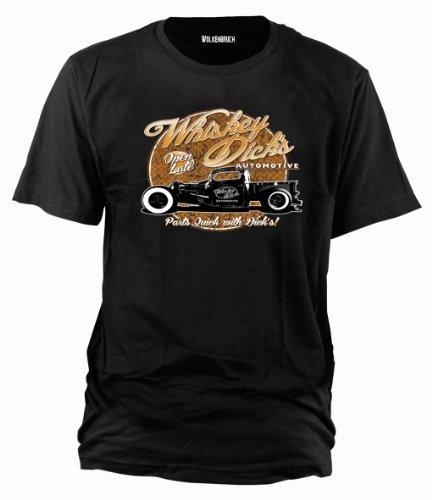 Wolkenbruch® T-Shirt Whiskey Dicks Hot Rod vintage, Gr.S - XXXXXL