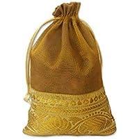 WeddingPitara Shagun Potli Bags 18 x 13 Cms -Pack of 30 (gold)