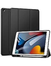 جراب Wibrilant لجهاز iPad الجديد من الجيل التاسع - الثامن - السابع مع حامل أقلام رصاص ، واقي رفيع وخفيف الوزن ، وغطاء TPU ناعم مع إيقاظ - نوم تلقائي ، وحامل ثلاثي الطيات لجهاز iPad 10.2 بوصة 2021-2020