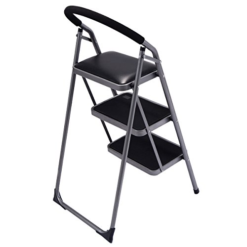 Ginatex Non-slip 3 Step Ladder Lightweight Folding Stool Platform Heavy Duty Industrial (3 Step) by Giantex (Image #3)