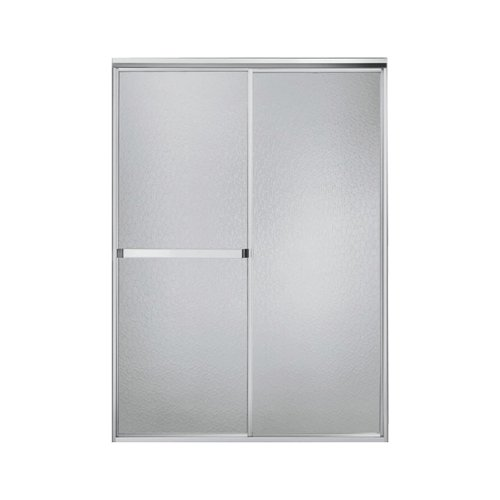 STERLING, a KOHLER Company 660B/SP-46S Standard 42 To 48-In X 65-In Framed Sliding Alcove Shower Door with Hammered Glass, Silver