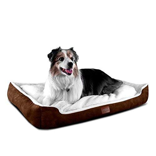 Floppy Dawg Large Dog Bed with Bolster | Removable Cover and Waterproof Liner |  Nesting Cuddler Design (40L x 28W x 6H) for Dogs 40 To 90 Pounds Review