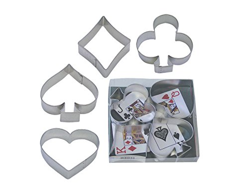4 Piece Poker Card Cookie Cutter Set