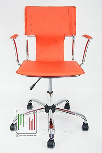Sedie Da Ufficio Arancione.Stil Sedie Poltrona Sedia Ufficio Girevole Modello Orion Bianco