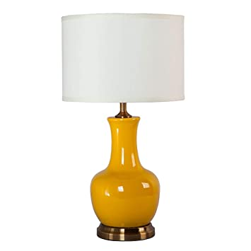 YJFFAN Lámpara de Mesa de cerámica de Alta Temperatura Retro ...