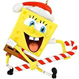 Spongebob Squarepants with Candy Cane Christmas Ornament 34