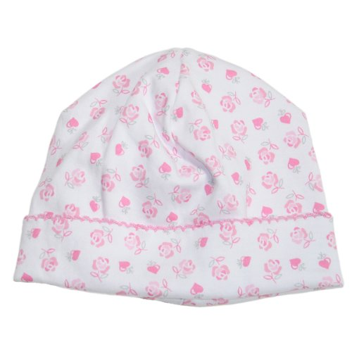 Kissy Kissy - Baby Hearts and Roses Print Hat-SM
