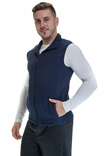 Performance Fleece Vest (Men's Zip Up Performance Fleece Vest With Pockets, Navy XL)