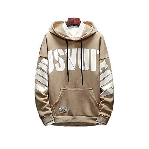 Shopping Easy Autunno Inglese E Go In Inverno Con Cappuccio Color Sciolti Khaki Stampa Pullover Selvaggio 5SCSrwxqz