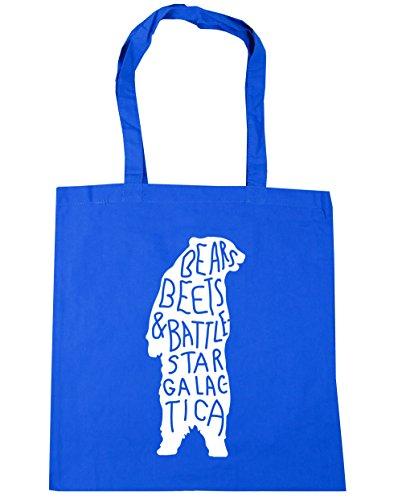 Hippowarehouse ,  Damen Strandtasche blau Kornblume (Blau) One Size