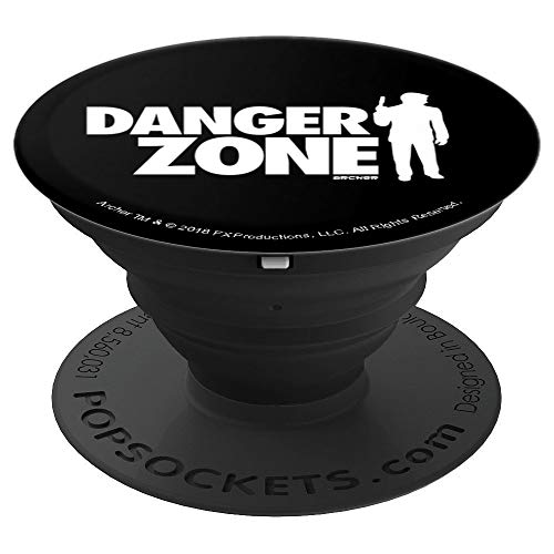 (Archer Danger Zone Silhouette - PopSockets Grip and Stand for Phones and Tablets)