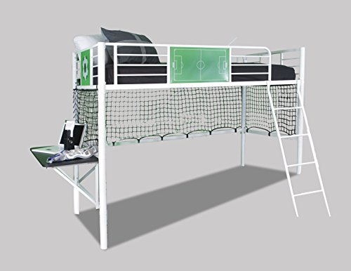 Powell 14Y2015LB Goal Keeper Loft Bed, Twin (Powder White Coated Bunk Bed)