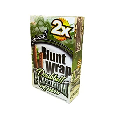 Double!! Platinum Cigar Wraps 2 Per Pack Kush Flavor Pack Of 25 from DOUBLE!! PLATINUM