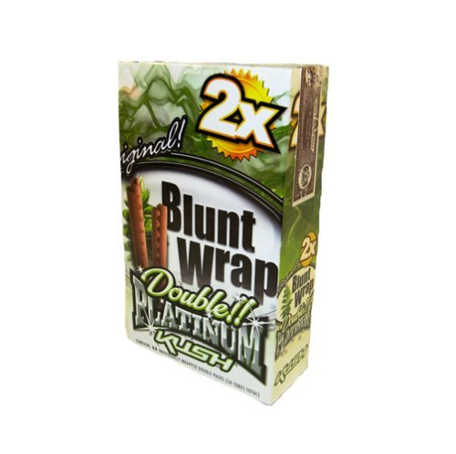 DOUBLE!! PLATINUM CIGAR WRAPS 2 PER PACK KUSH FLAVOR PACK OF 25