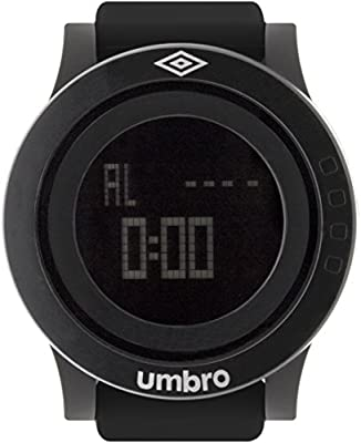 UMBRO UMB-016-1 Unisex ABS Black Band, ABS Bezel 52mm Case Digital MIYOTA Electronic Precision Movement Water Resistant 5 ATM Sport Watch