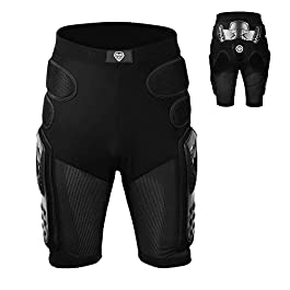 Decdeal Hip Protection Riding Armor Pants Protective Pad Shorts for Motorcycling Mountain Bike Cycling Skiing Skating…