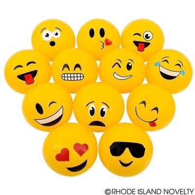 2 Dozen(24) Fun Emoji Beach Ball Inflates (12