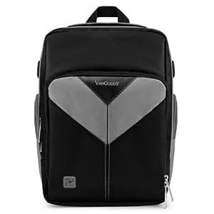 Vangoddy VGSpartaGRY Sparta DSLR Camera Bag with Customizable Interior (Black/Gray)