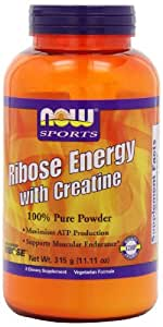 Now Foods Ribose Energy with Creatine Powder, 315-Grams