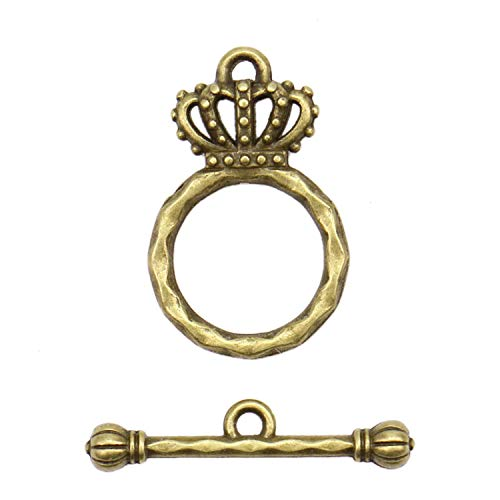 (Monrocco 50 Pcs Crown Style Bracelewt Toggle Clasps & Tbar Clasps for Necklace Bracelet)