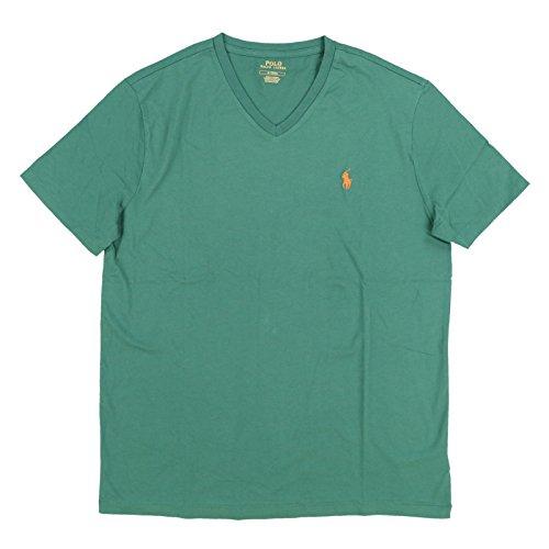 (Polo Ralph Lauren Mens Standard Fit V-Neck Shirt (Small, Pine Green))
