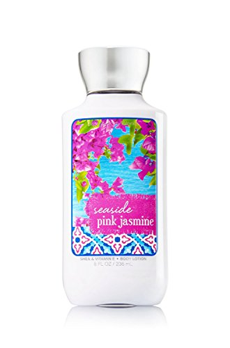 Bath and Body Works Seaside Pink Jasmine Shea Vitamin E Lotion 8 Ounce Full ()
