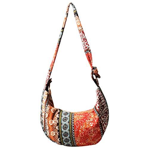 SAYEEC Canvas Bohemian Shoulder Bag for Women Crossbody Casual Bag LargeCapacity