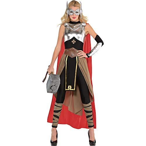 SUIT YOURSELF Thor Costume for Adults, Size Small, Includes a Jumpsuit with a Skirt, a Cape, a Mask, a Belt, and More