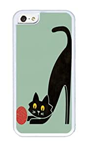 Apple Iphone 5C Case,WENJORS Personalized Fitz the curious cat Soft Case Protective Shell Cell Phone Cover For Apple Iphone 5C - TPU White
