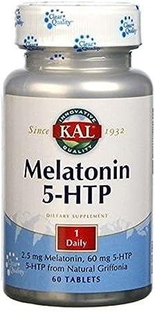 Melatonin con 5-Htp Accion Retardada 60 comprimidos de 1,9 mg de Solaray: Amazon.es: Salud y cuidado personal