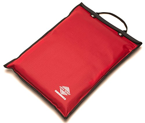 Aqua Quest Storm Laptop Case - 100% Waterproof Pouch for Apple, Samsung, Acer, Dell, Asus, Lenovo, HP Lightweight Sleeve - 17 inch, Red